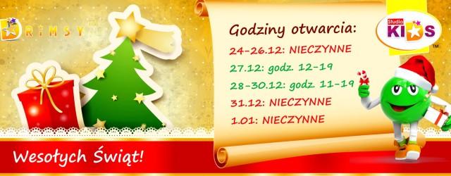 Godziny otwarcia na Święta i Nowy Rok