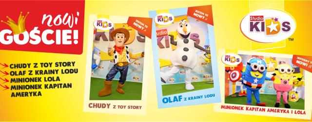 MINIONKI, OLAF I CHUDY – nowe gwiazdy w STUDIO KIDS:)