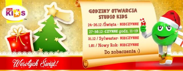 Godziny otwarcia w Boże Narodzenie i Nowy Rok :)