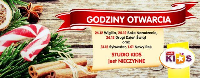 Godziny otwarcia w okresie świąteczno-noworocznym :)